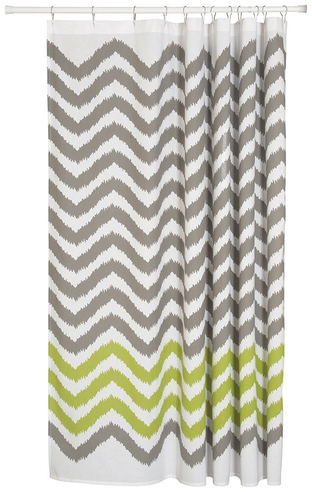 Amazon Shower Curtain Long Chevron Home Decor GraySoft Fabric Kitchen
