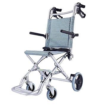 Sillas de ruedas avión Viaje para niños Carro Plegable Puede soportar 55 kg (Color : Blue, Size : 71 * 49 * 43cm): Amazon.es: Hogar