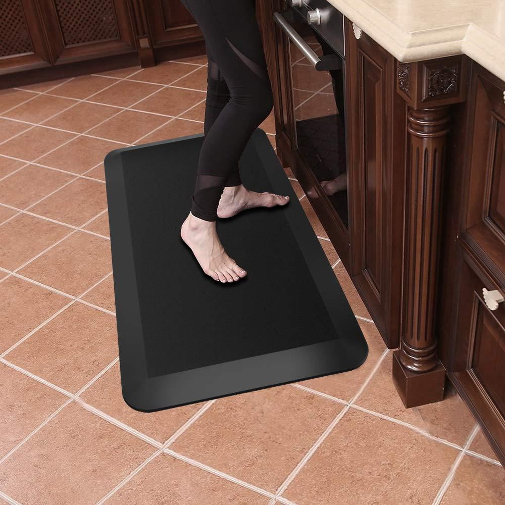 Anti Fatigue Mat for Kitchen, Office Standing Desk Comfort Floor Mat,Non-Slip Rubber Mat, Waterproof Bathroom Garage Warehouse Sink Mat (33.5