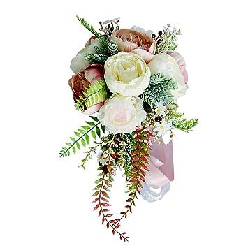Baoblaze Pfingstrosen Brautstrauss Romantische Hochzeitsstrauss