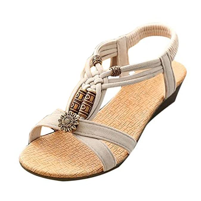 Women's Sandals, Fulltime(TM) Women Casual Peep-toe Flat Buckle Shoes Roman  Summer Sandals: Amazon.co.uk: Shoes & Bags