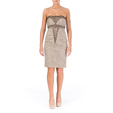 2622298747e Image Unavailable. Image not available for. Color  Sue Wong Womens  Embellished Strapless Cocktail Dress ...