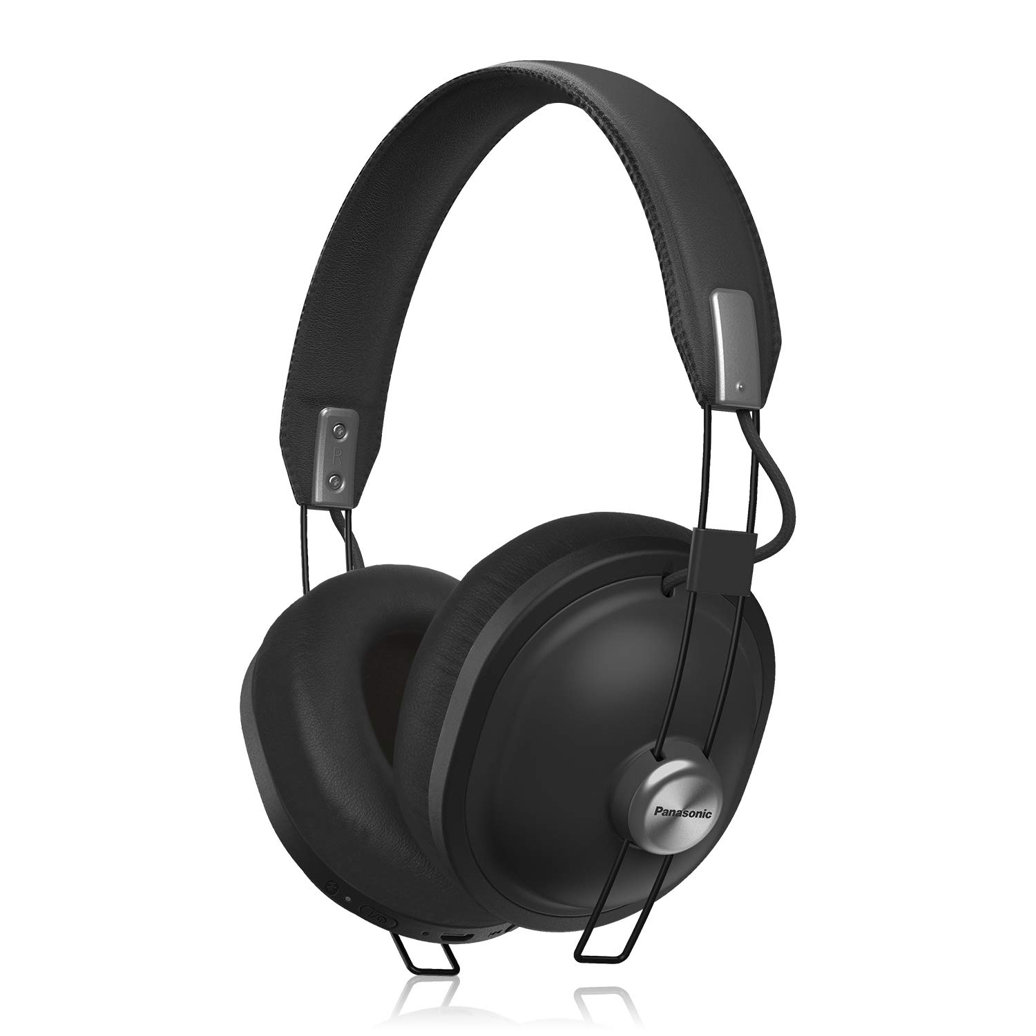 91642333f63b6c Amazon.com: PANASONIC Retro Wireless Headphones with Bluetooth connectivity  and up to 24-Hour Playback - RP-HTX80B-K - Over the Ear Headphones (Matte  ...