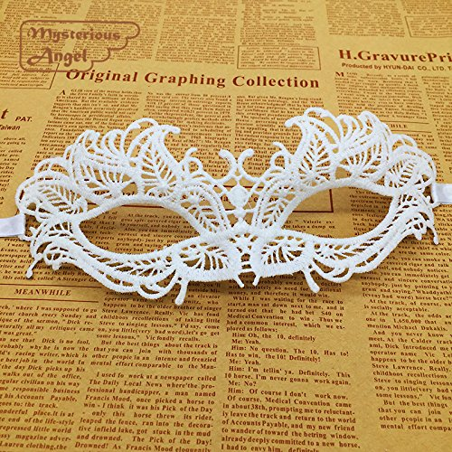 ArMordy(TM) White Fire Mask Lace Party Sexy Mask Masquerade Mask Dress Venetian Carnival