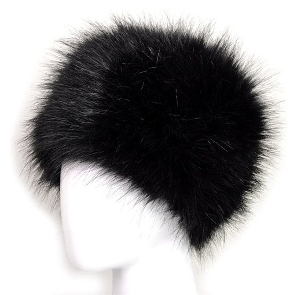 73bcc871a33 Galleon - Dikoaina Faux Fur Cossack Russian Style Hat For Ladies Winter Hats  For Women