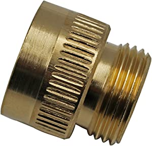 "JL-BRAND SM01 Vacuum Breaker Adapter Threads Measure 1"" in Diameter Fit for Arrowhead PK1390 Anti-Siphon Valve Includes Vinyl Washer"