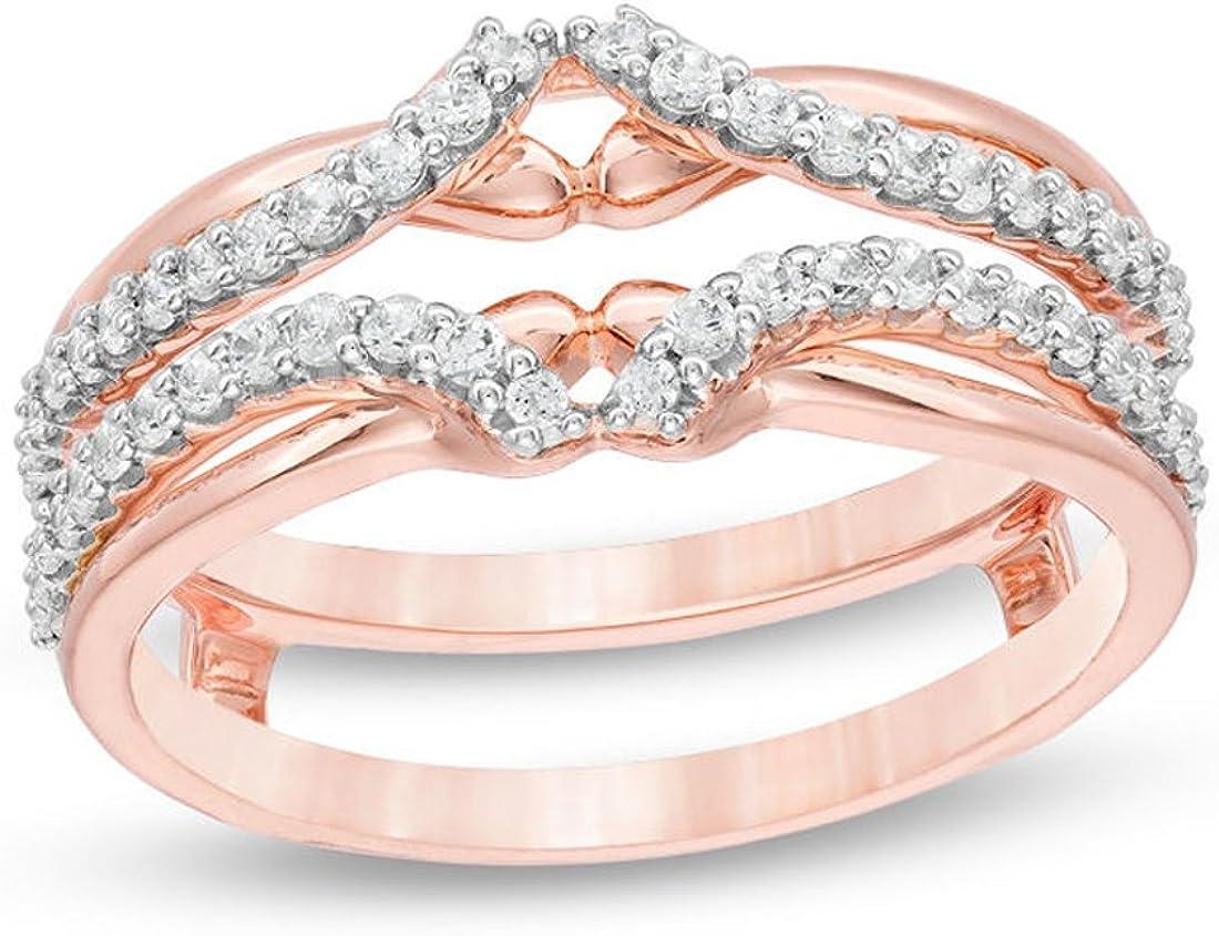 3 8 Cttw Diamond Anniversary Wedding Band Guard Wrap Enhancer