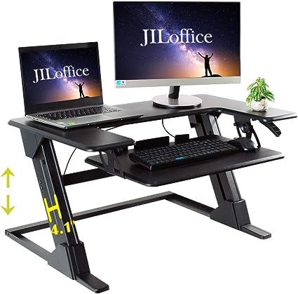 Escritorio de pie ajustable en altura – JILoffice Sit y soporte ...