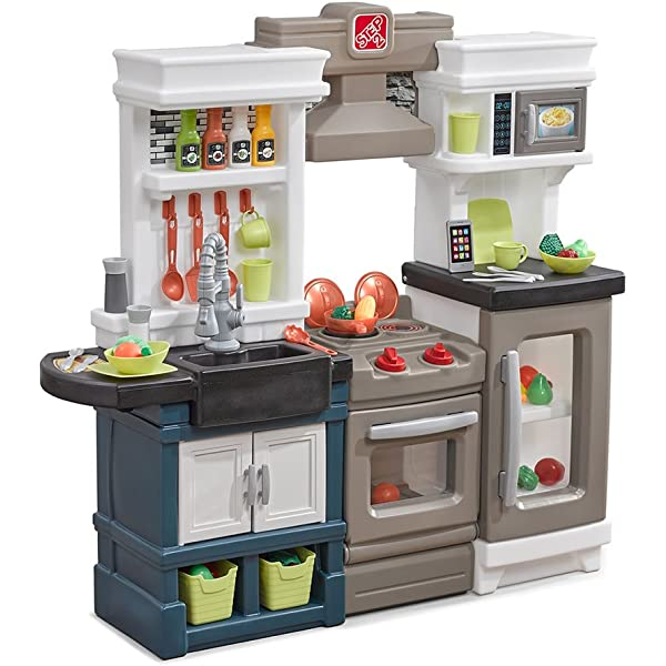 Amazon Com Step2 Modern Metro Kitchen Modern Play Kitchen Toy Accessories Set 879799 Model Toys Games