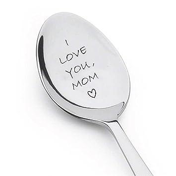 Amazon Com I Love You Mom Spoon Customized Gift Unique Birthday