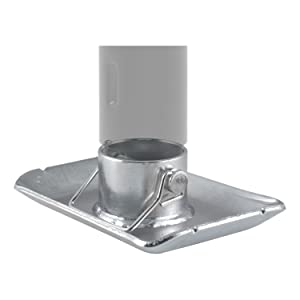 Curt 28272 Trailer Jack Foot, Fits 2-Inch Diameter Tube, Supports 2,000 lbs.
