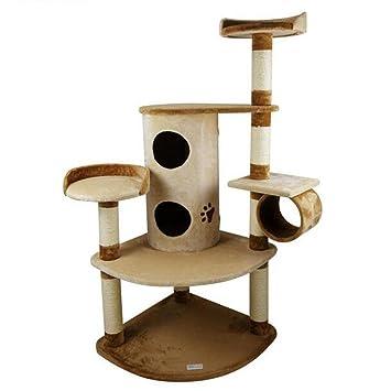 QWER Cat rastreo Árbol de gato Muebles para gatos Nido de gato Tablero del rasguño del