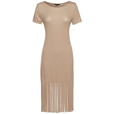 Made by Emma MBE Women's Everyday Lounging Round Neck Cap Sleeve Fitted Dress