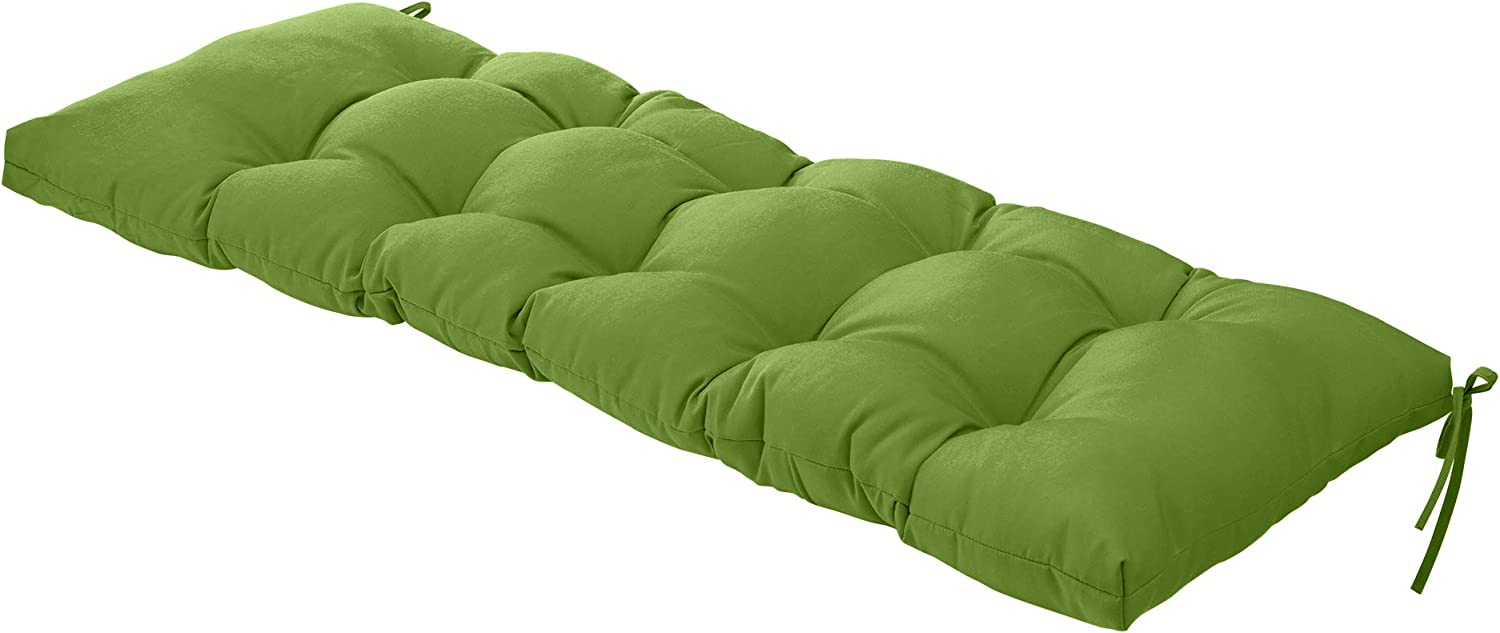 QILLOWAY Indoor/Outdoor All Weather Bench Cushion,51-Inches (Green)