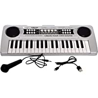 SUPER TOY 37 Keys Piano with USB Power Play, USB and Microphone Included, Recording Function Assorted