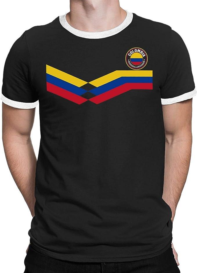 Tee Spirit Colombia Camiseta Para Hombre World Cup 2018 Fútbol New Style Retro: Amazon.es: Ropa y accesorios