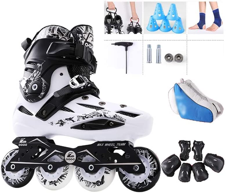 屋外 男性女の子 フィットネスタイプ向け Inline Skate ,ジュニア初心者ローラースケート,大人 用ポータブル インラインスケート (Size : EU 35/US 4/UK 3/JP22.5)  EU 35/US 4/UK 3/JP22.5