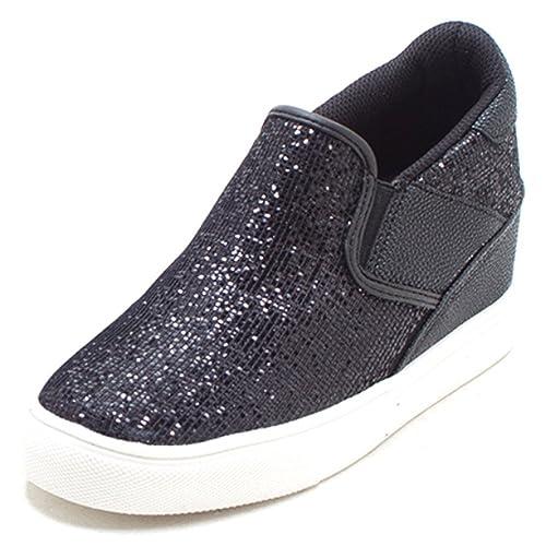 EpicStep Damens's Heels Casual Glitter Mid Heels Damens's Hidden Wedges 074cd8