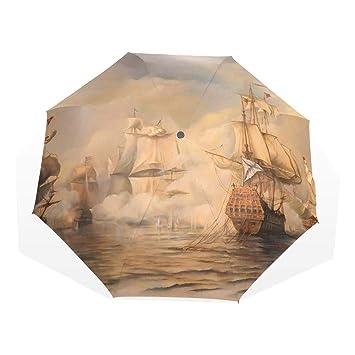 EZIOLY - Paraguas de Viaje Ligero y antiUV para Hombre, Mujer, niños, Resistente
