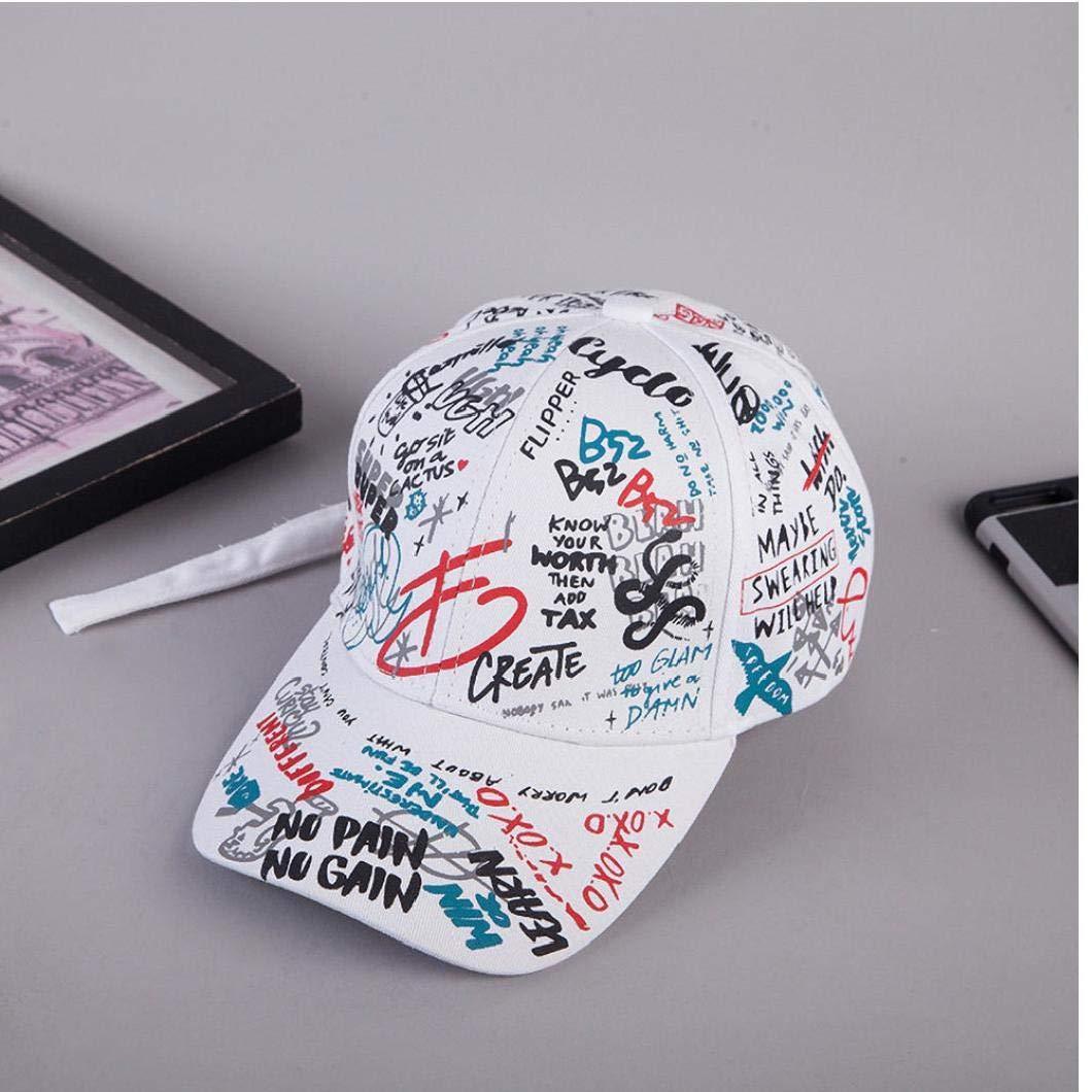 Unisexjustierbares Baseballm/ütze Graffiti Baumwolle Hip Hop-H/üte