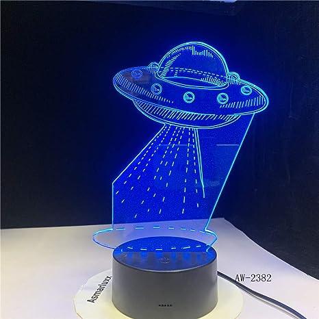 Bádminton modelado luz de noche 3D 7 cambio de color lámpara ...
