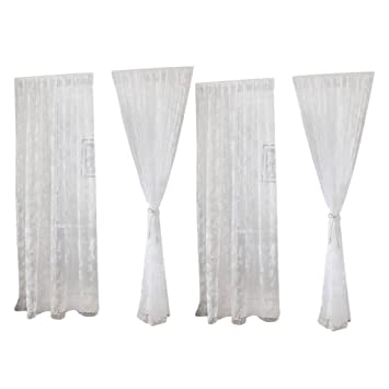 Sharplace 2pcs Transparente Schmetterling Voile Vorhang Tüll ...
