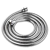 YOO.MEE Shower Hose 79 inch (6.5 Ft.) for Handheld Showerhead, Stainless Steel, Chrome