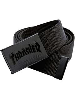 Thrasher Flame Logo Web Belt Black Adj