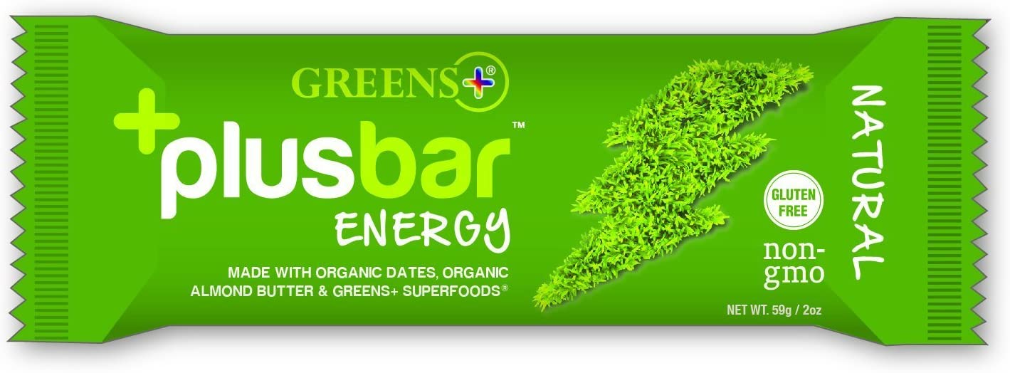 Greens Plusbar Energy Natural Gluten Free Energy Bar Organic Greens Non GMO Vegan 12 Bars