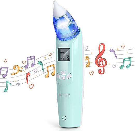 INTEY Aspirador Nasal Electrico Mini Aspirador de Nariz del Bebé ...