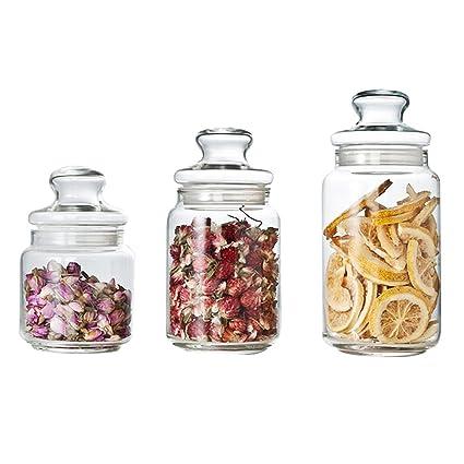 Luminarc Glass Food Storage Jar   0.5 L, 0.75 L, 1 L ,Pack