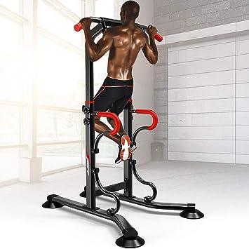 Rack Musculation Cage Squat Poids Racks Chaise Romaine Barre De Traction Musculation Station Traction Dips pour Lentra/înement /À La Maison Charge Max 200Kgsiamese