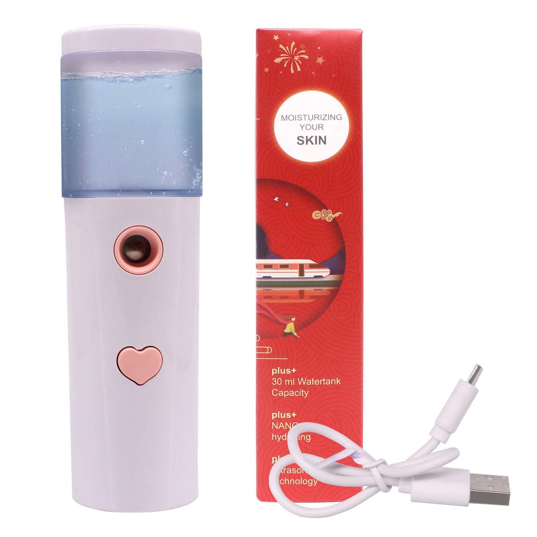 Nano Mist Spray Facial Steamer Moisturizing Sprayer Portable Nano Mister Humidifier Mini Facial Sprayer