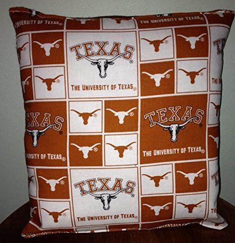 "Texas University Pillow Pillow Football Pillow NCAA HANDMADE In USA Pillow is approximately 10"" X 11"