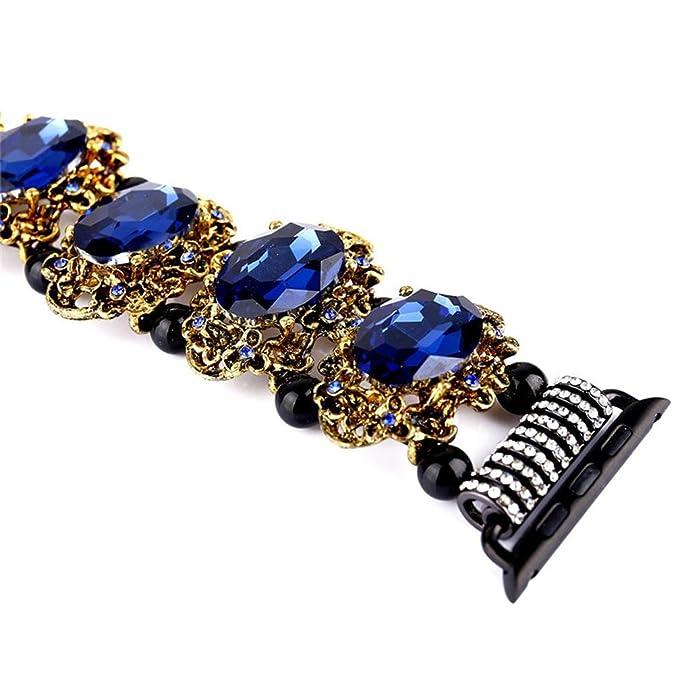 Prosperveil Jewelry Gem Watchband Adjustable Strap Band for iWatch 1/2 Generation k9SZnNUH
