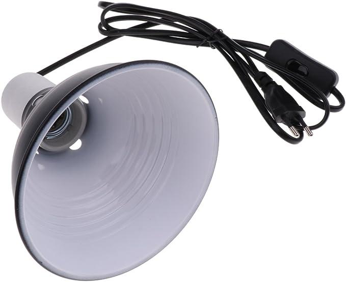 360-Grad Einstellbare Lampenfassung E27 mit Kabel und Klemme f/ür Terrarium Lampen W/ärmelampe UVA UVB Gl/ühbirne