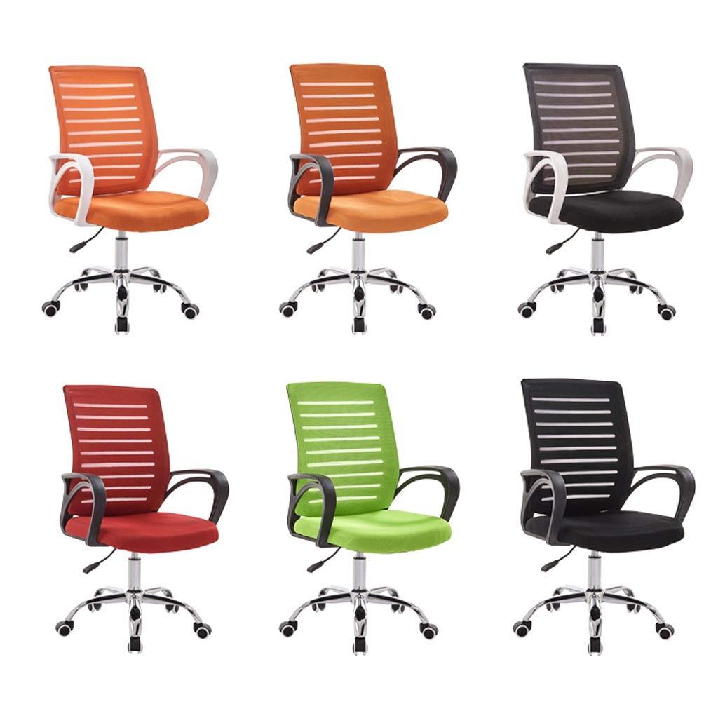 LUGEUK datorstol, hem bekväm svängbar stol, personalstol, fritid lyft student arbetsstol, enkel kontorsstol (färg: A) a