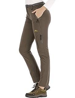DENGBOSN Pantalones Montaña Mujer Pantalones de Nieve ...