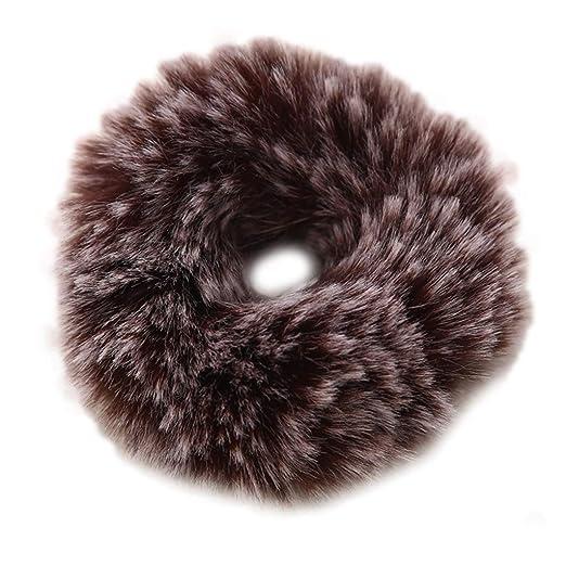 Huwaioury - Corbata de pelo de felpa para mujer, diseño de pompón ...