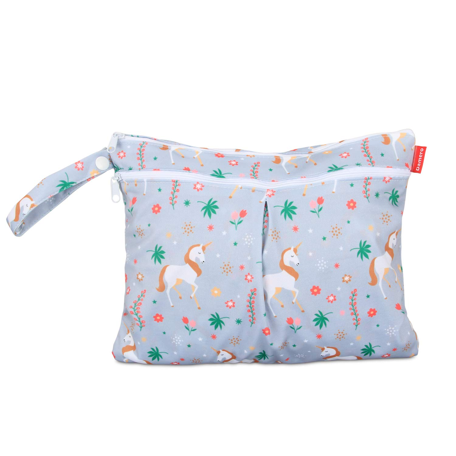 Travel Wet and Dry Bag with Handle for Cloth Diaper Large,Cats Clothes Pumping Parts Swimsuit and More Reusable and Water-resistant Damero Cloth Diaper Wet Dry Bags