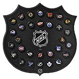 Sher-Wood Hockey NHL Plaque, 30 Team Basic Logo Pucks, Black, Medium
