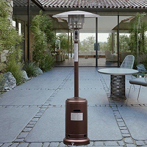 Garden Outdoor Patio Heater Propane Standing LP Gas Steel w/accessories New Bronze by Apontus