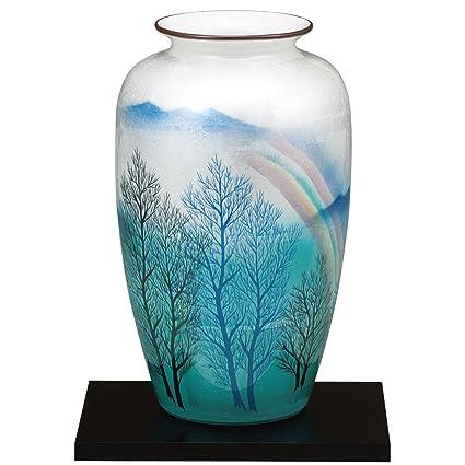 Amazon Kutani Yakiware Vase Silver Leaf Home Kitchen