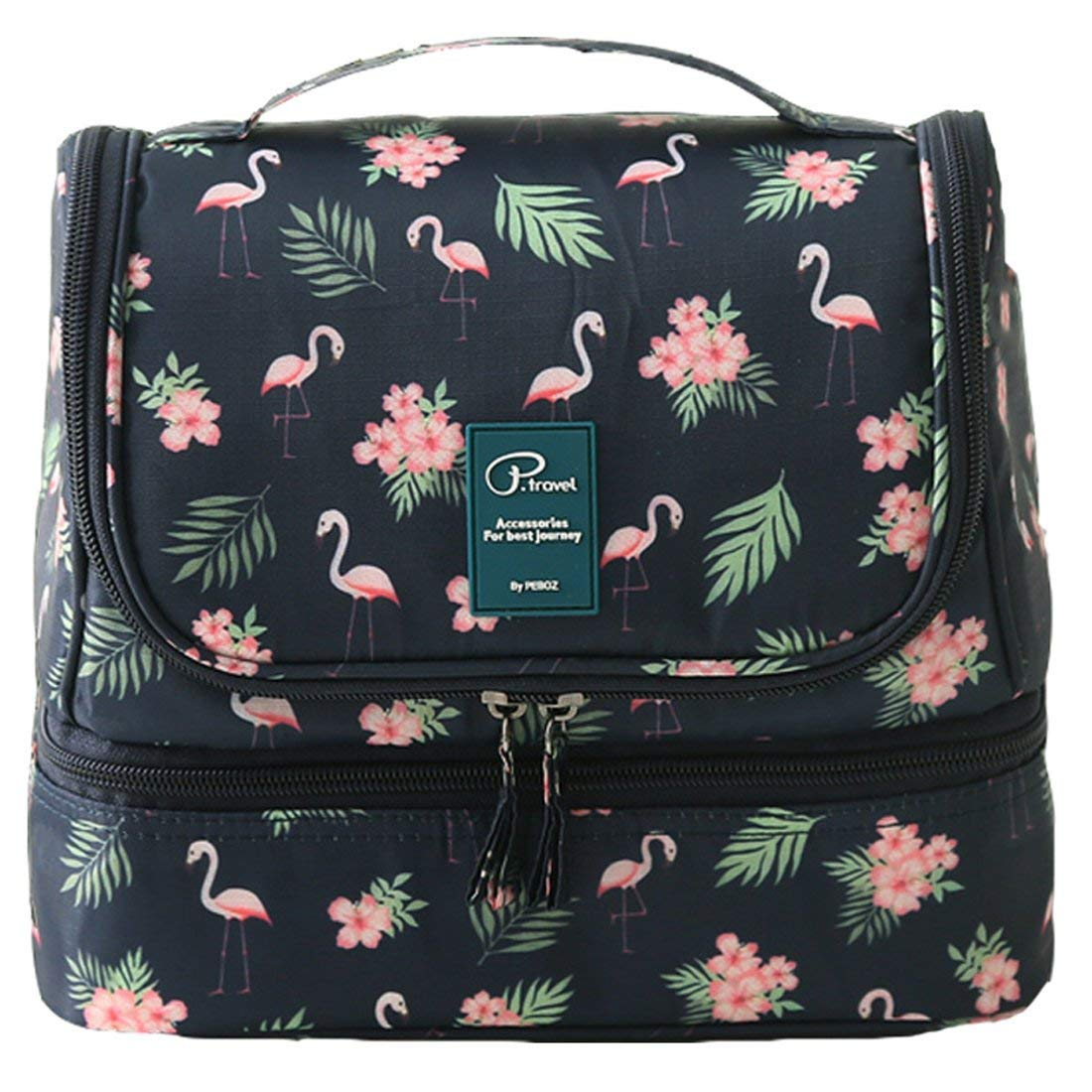 MJFOX Toiletry Washer Bag, wash Bag Women Ladies Cosmetic Bag Flamingo Makeup Bag Toiletry Bag for Hanging Beauty case Cosmetic Bag