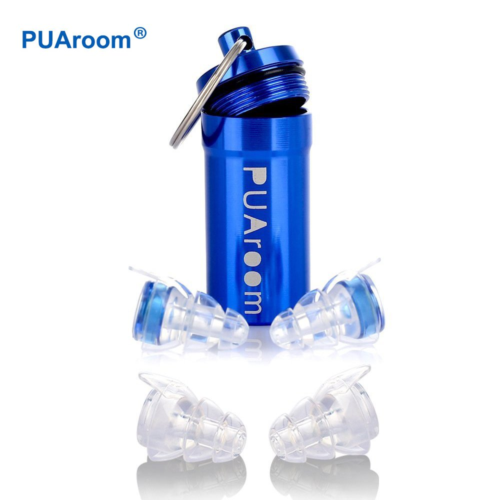 PUAroom 2ペア騒音フィルター付き高忠実度耳栓