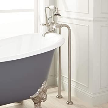 Signature Hardware 286323 31 12 Floor Mounted Clawfoot Tub Filler