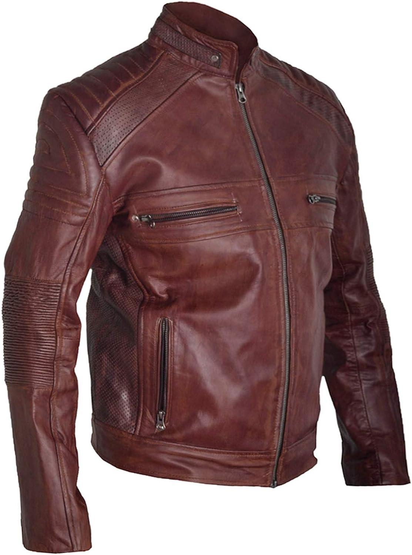 XXS-5XL Race Lover Biker Jacket for Men in Genuine Lambskin Leather Handmade Jacket