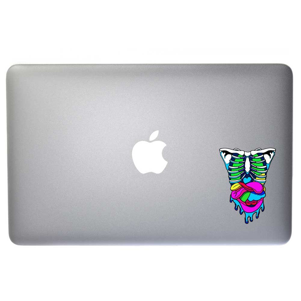 and More D/écor Dark Spark Decals Candy Gore Rib Cage with Guts Retro Holo Laptops Cars 4 in Full Color Vinyl Decal for Indoor or Outdoor use Windows