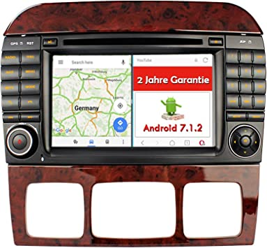 A de Sure 7 Android 7.1.2 Auto Radio DVD GPS navegación MirrorLink ...