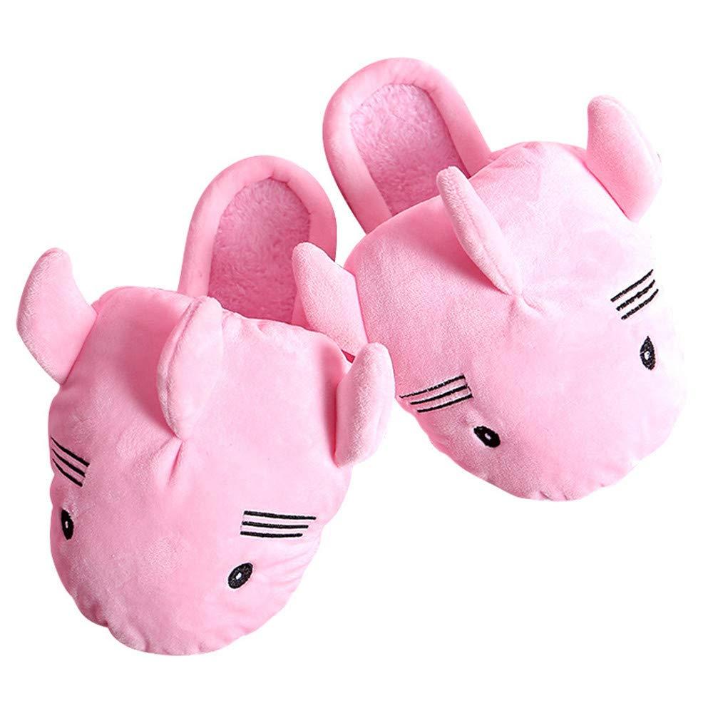 SLIPPERSXSJ Pantoufles en Coton Hiver Femme Nouvelle Maison Mignonne intérieure Pantoufles ménage Mois épais Anti-dérapant Chaussures de Mois Chaud de Dessin animé, 38-39 (24-24,5 cm)